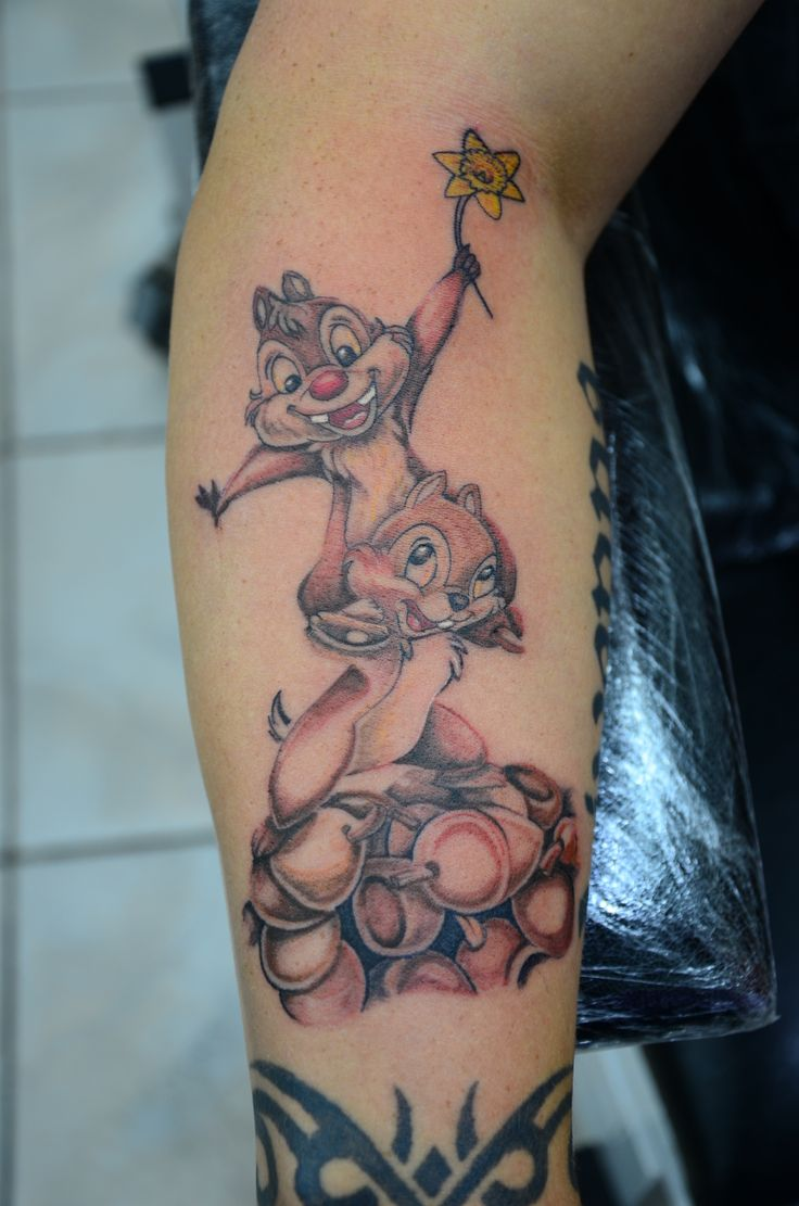 chip and dale tattoo, chipmunks, tattoo,nut tattoo, cartoon tattoo,ali baba tattoo, bodrum tattoo, piercing