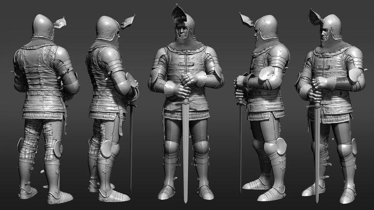 ArtStation - Medieval Knight Armor, Petr Sokolov