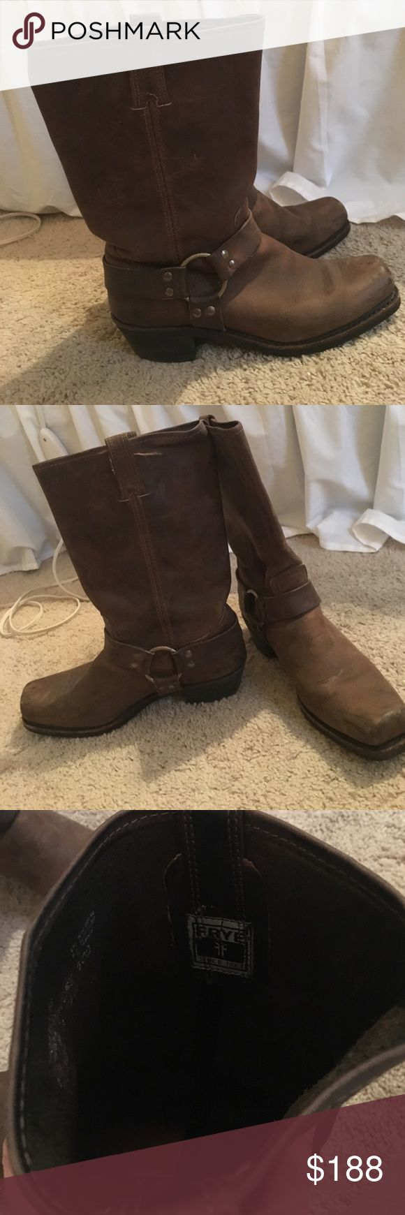 Frye Harness boots Perfect condition Frye Harness boots! Worn maybe 4 times! Frye Shoes Heeled Boots