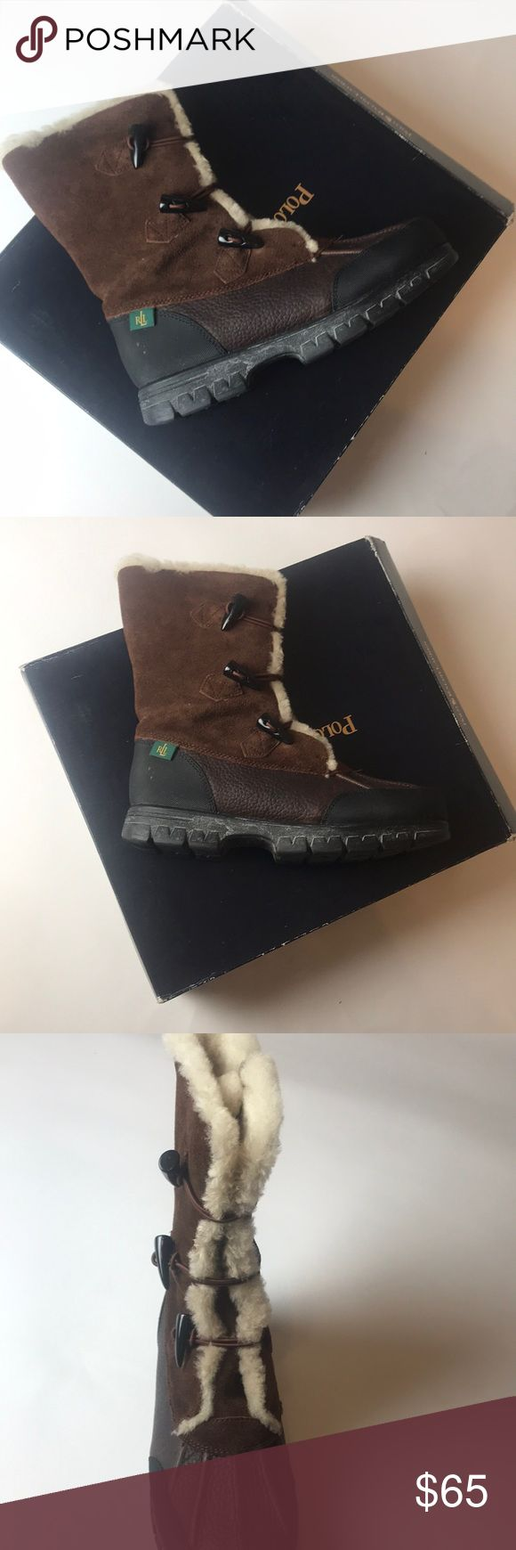 Ralph Lauren Polo Boots Brown and black fur polo boots with original box   Suede and leather!   Size: 7.5 Men's Polo by Ralph Lauren Shoes Winter & Rain Boots