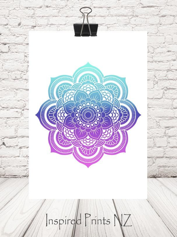 A4 Print mandala by InspiredPrintsNZ on Etsy