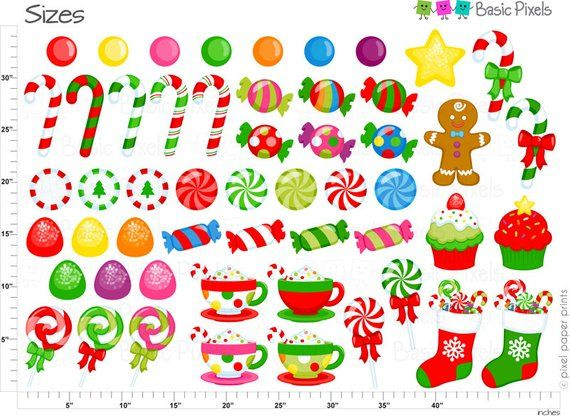 Christmas Candy Clipart.Christmas Candy Clipart Digital Clip Art Christmas