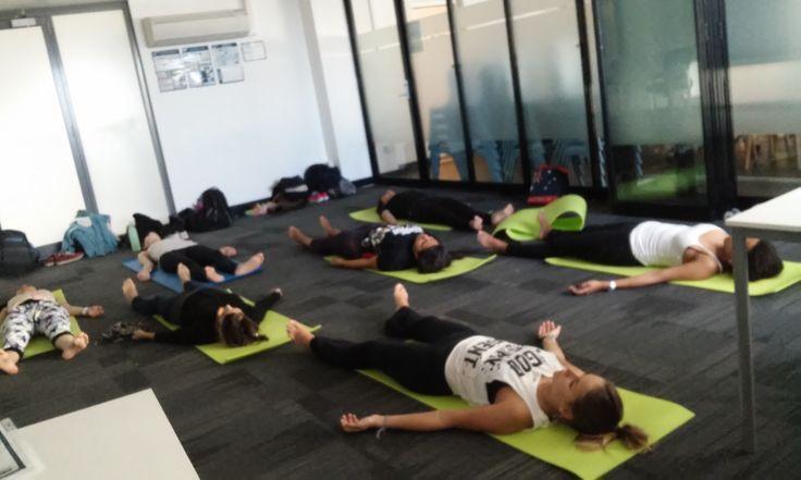 Free on campus yoga classes