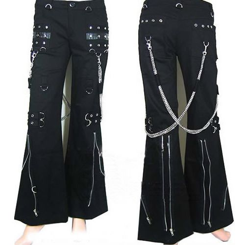 Gothic and Punk Rock Clothing Mens Womens Chain Pants Trousers