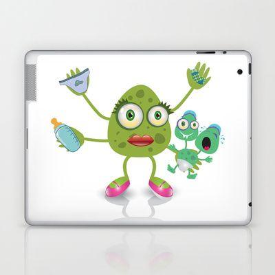 babysitter monster Laptop & iPad Skin by MargoLand - $25.00