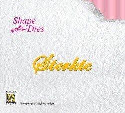 """Shape Dies SD052 text """"Sterkte"""""""