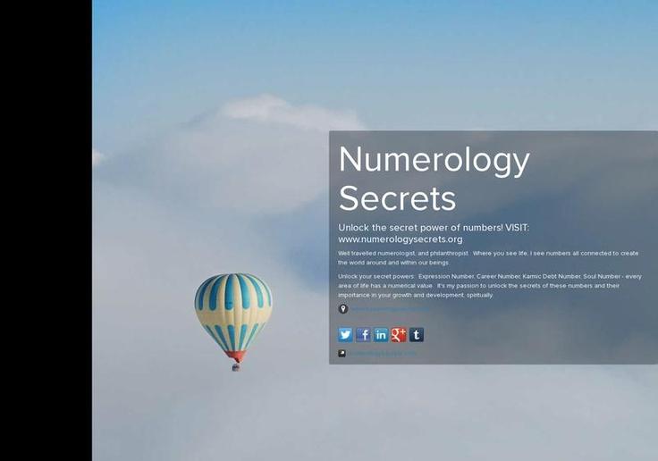 Numerology Secrets' page on about.me – http://about.me/numerologysecret