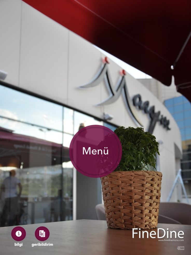Marquee, Ankara Restaurant Café on tablet menus.