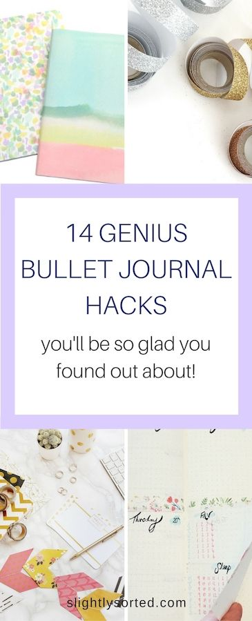 We love our bullet journals, and we love these genius bullet journal hacks to take our bullet journals to the next level!
