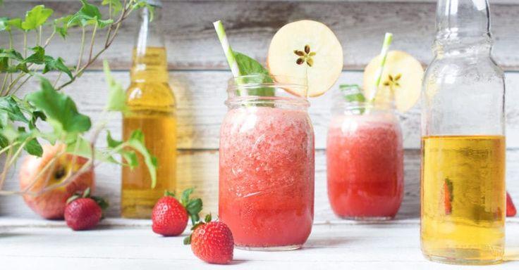 Strawberry Cider Slushies