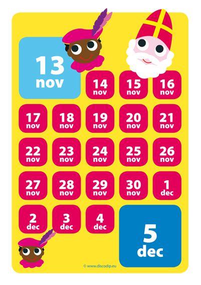 Leuke aftelkalender voor #sinterklaas. Kijk voor meer tips op www.babbelijntje-blog.nl