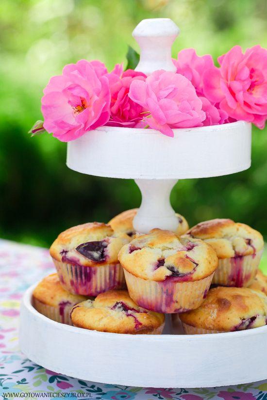 Muffinki ze śliwkami - Gotuję, bo lubię