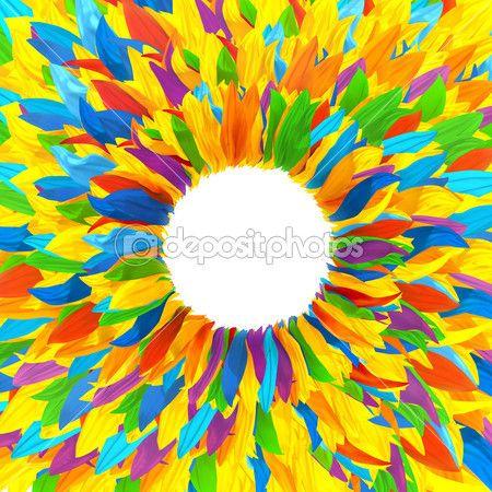 Венок из разноцветных лепестков подсолнуха