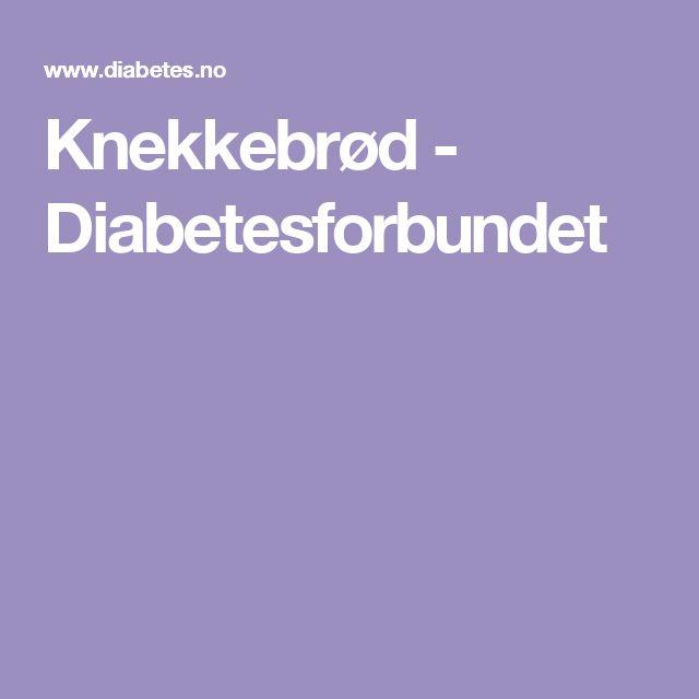 Knekkebrød - Diabetesforbundet