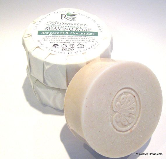 Shaving Soap with Kaolin Clay in 4 by rainwaterbotanicals on Etsy, $6.50