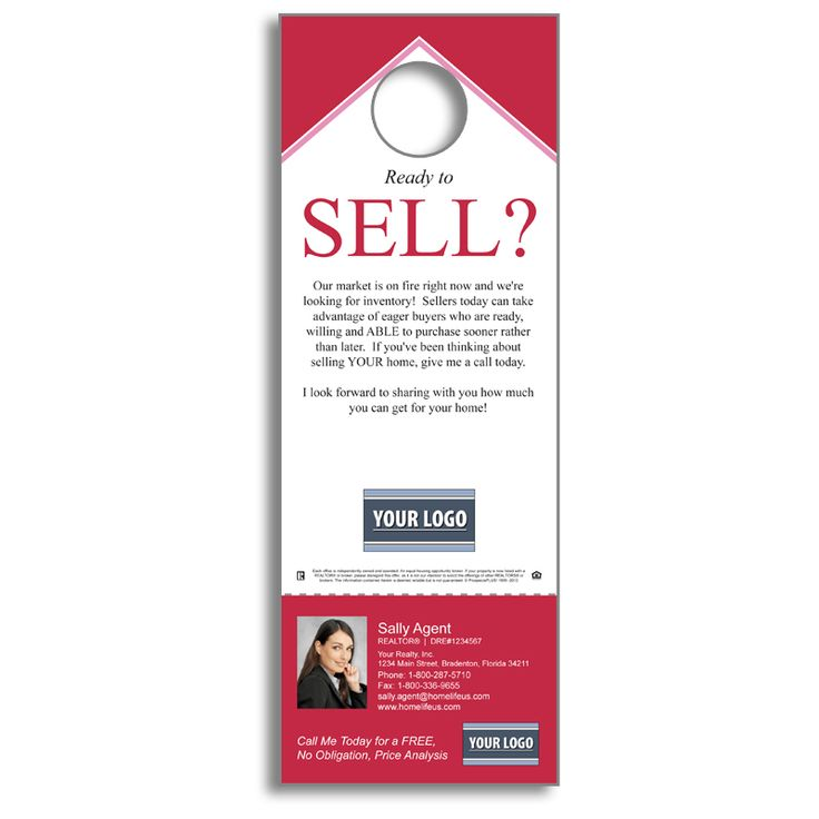 142 best RE ED images on Pinterest Real estate business, Real - retail and consumer door hanger template