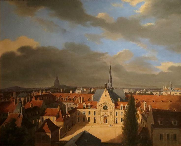 L'hôpital Laennec en 1839 peint par Corard