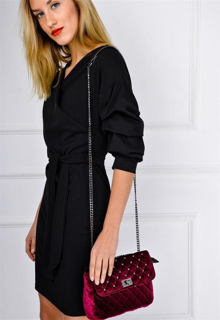 Przewiązywana sukienka z kopertowym dekoltem, Ona Odzież Sukienki | Sukienki.shop