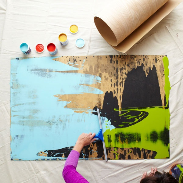 Make squeegee art with my kids. I think we're ready for this!