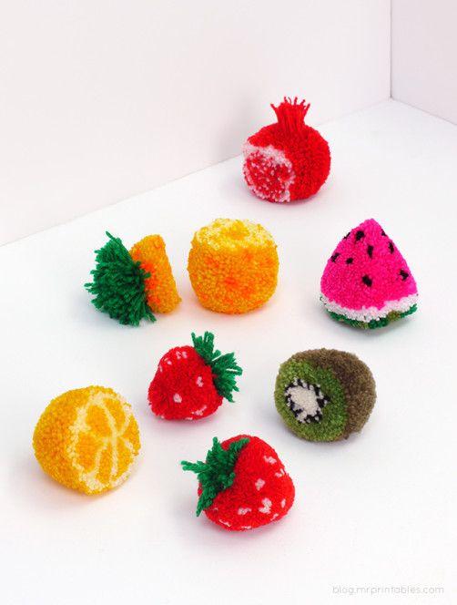 pompom früchte - schoenstricken.de