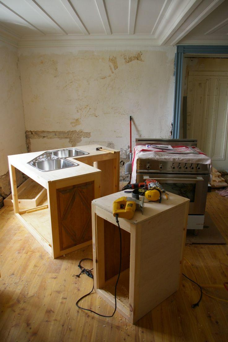 1000 id es sur le th me armoires en merisier sur pinterest cuisine avec sol en carrelage. Black Bedroom Furniture Sets. Home Design Ideas
