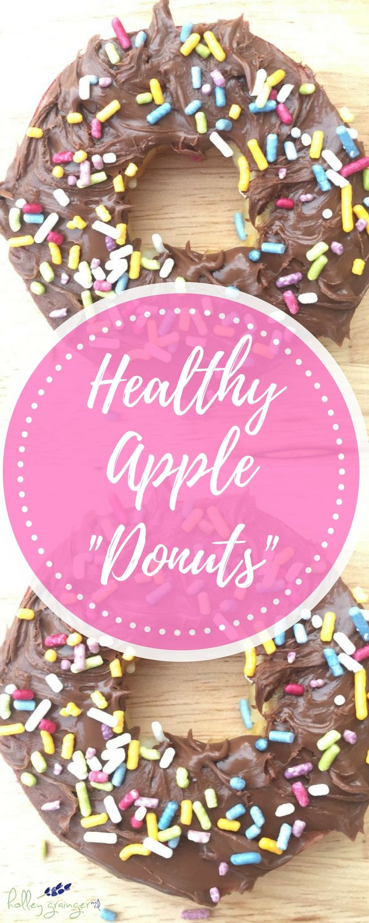 """Is it possible to make donuts even more fun and delicious? Ellie, Frances and I say YES it is! Watch and we'll show you how to make our yummy Apple Donuts. They're simple, can be customized to include your favorite """"icing"""" and """"toppings,"""" and best of all fit any type of diet."""