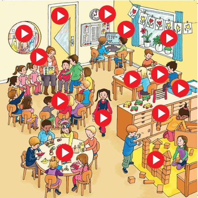 Startpagina voor de kleuters met digitale spelletjes by juf Ineke