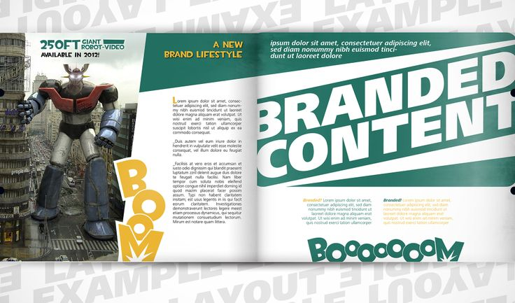 Boom magazine design