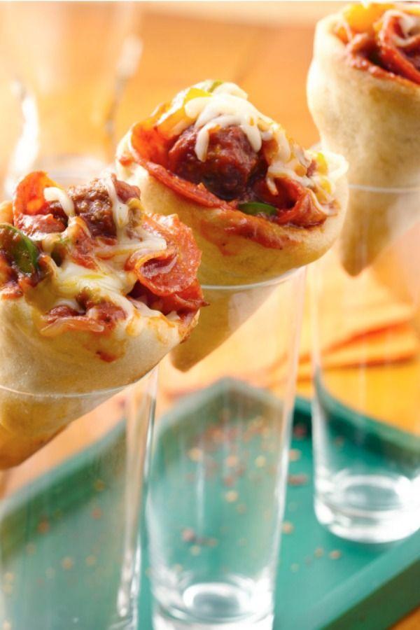 how to make pizza cones recipe