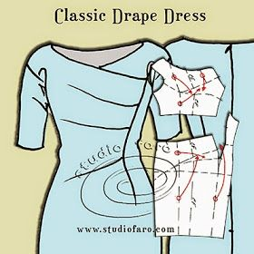 well-suited: Pattern Puzzle - Classic Drape Dress