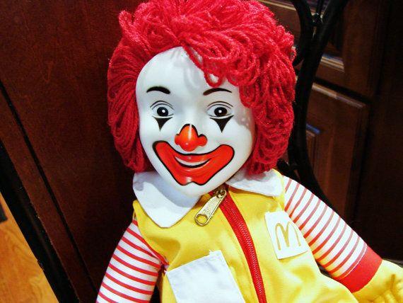 Vintage 1980s Ronald McDonald Doll Unused by TreasuresPast4U
