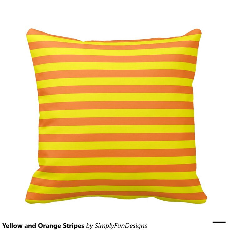 Yellow and Orange Stripes Throw Pillow Stripes, Orange and Yellow
