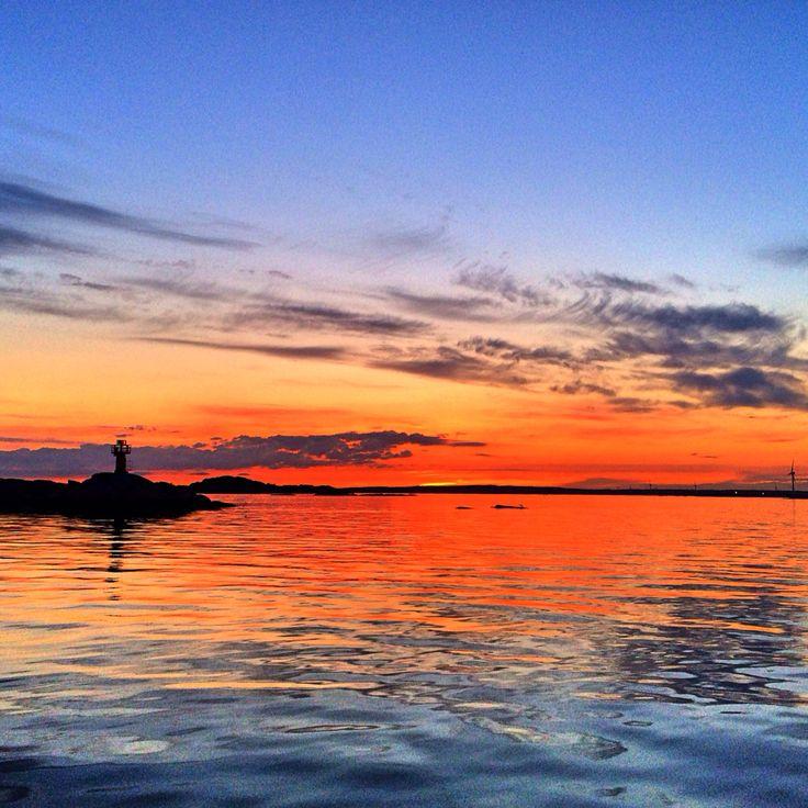 Solnedgång i södra skärgården en junikväll 2014