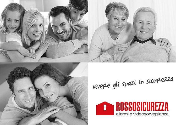 ROSSO SICUREZZA -Brochure per nuova impresa installazione di videosorveglianza domestica.