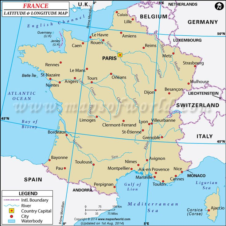 85 best latitude longitude maps images on pinterest latitude latitude and longitude of france is degrees n and degrees e map showing the geographic coordinates of france states major cities and towns gumiabroncs Image collections