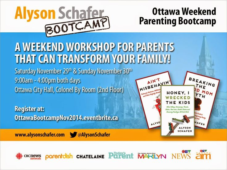 The amazingly talented Alyson Schafer is coming to Ottawa an I have a discount code for her Parenting Bootcamp!  http://goodkarmababy.blogspot.ca/2014/10/parenting-expert-alyson-schafter-is.html