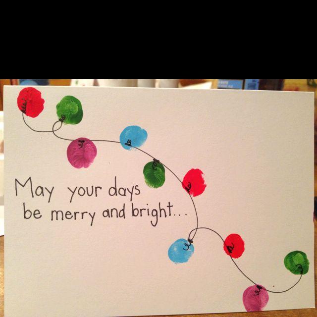 Homemade thumbprint Christmas cards!