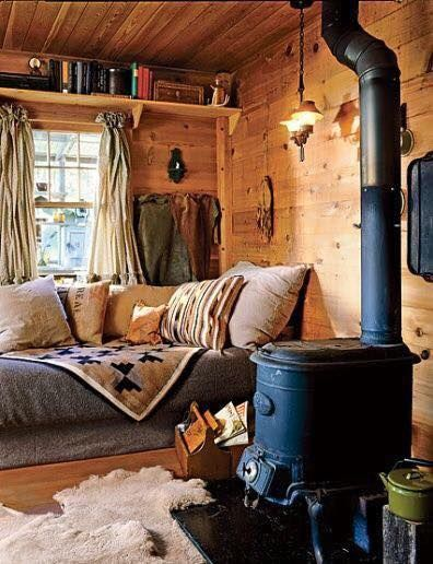 How about this cozy rustic spot for the weekend?