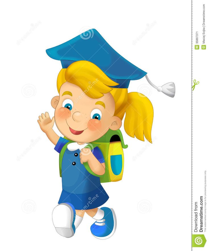Cartoon Child Going To School - Illustration For Children Stock Image - Image: 35897371