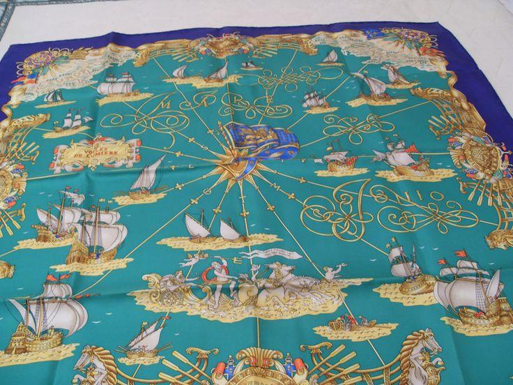 Splendido foulard di HERMES, originale e vera rarità