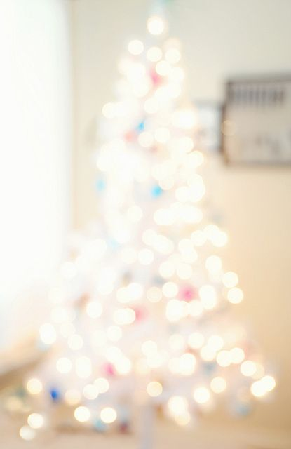 Christmas Tree Blur - our tree this year.