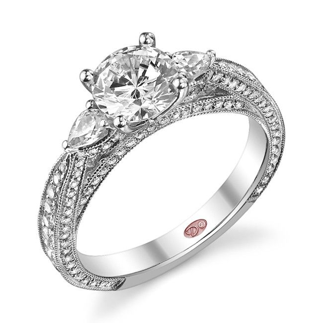 Trendy Demarco Heirloom Diamond Engagement Ring DW Available in White Gold KT and Platinum Wholesale