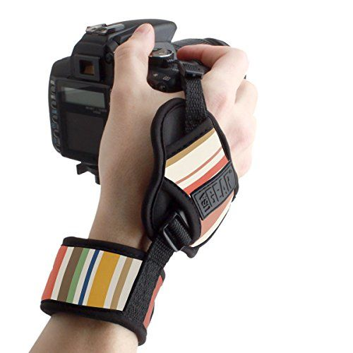Professional DSLR Camera Hand Grip Strap with Metal Plate by USA Gear  Works With Canon EOS Rebel T6  PowerShot SX420 IS  G7 X Mark II and More Canon Cameras >>> Click on the image for additional details. This is Amazon affiliate link.