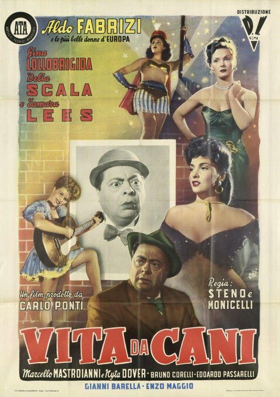 Vita da cani (1950)Stars: Aldo Fabrizi, Gina Lollobrigida, Delia Scala, Marcello Mastroianni ~ Directors: Mario Monicelli, Steno