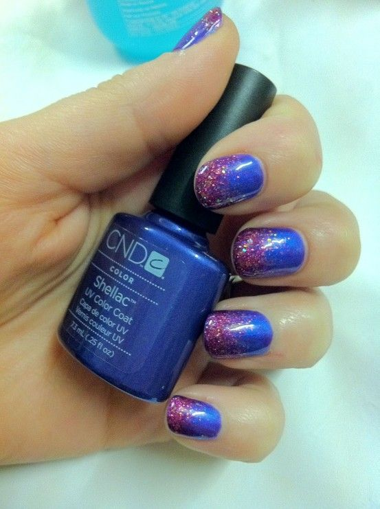 101 best cnd nails images on pinterest cnd nails cnd shellac brush up and polish up cnd shellac nail art purple purple glitter prinsesfo Image collections