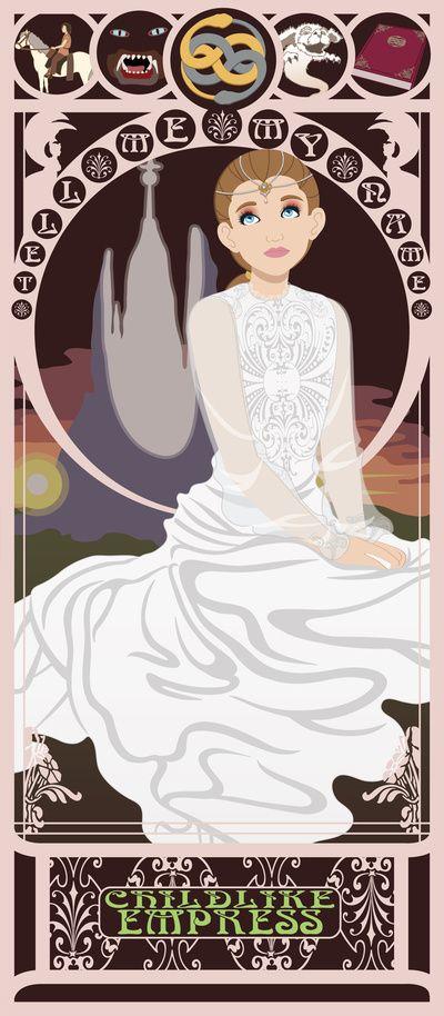 Childlike Empress Nouveau - Neverending Story Art Print by CaptainLaserBeam   Society6