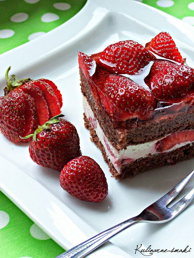 Ciasto kakaowo-truskawkowe