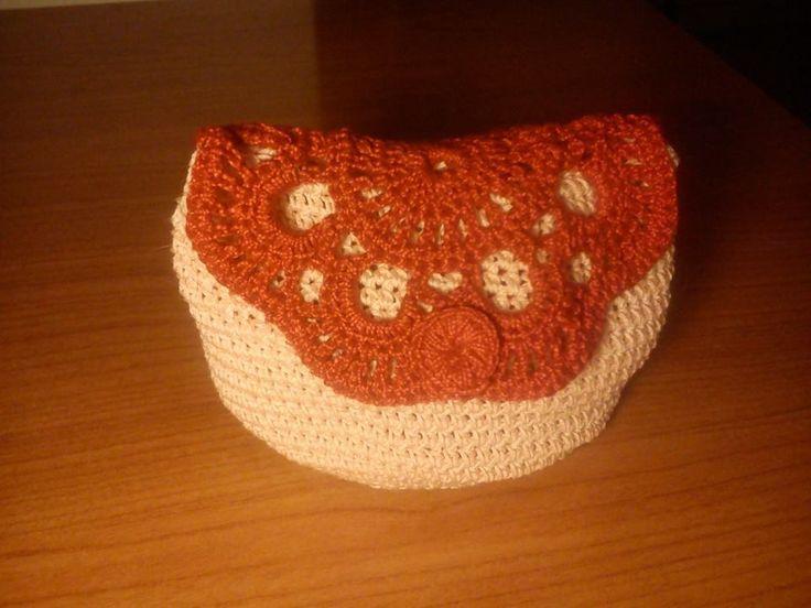 cotton crochet pochette