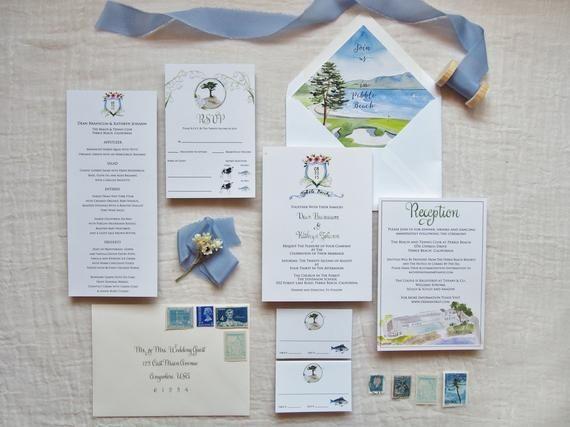 wedding invites Watercolor Wedding Invitations nautical wedding purple wedding wedding invitation