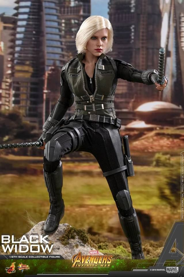 Hot Toys 1 6th Scale Avengers 3 Infinity War Black Widow Black